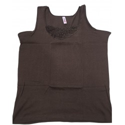 Podkoszulka damska bawełniana na ramiączkach c. róż - XL