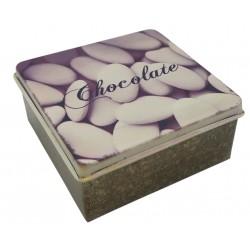 Pudełko metalowe kwadrat na drobiazgi, cukierki, puszka RETRO