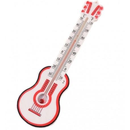Termometr pokojowy gitara, wewnętrzny biały, 20 cm