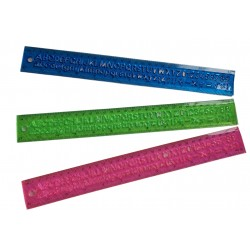 Linijka giętka elastyczna literki cyferki, szablon