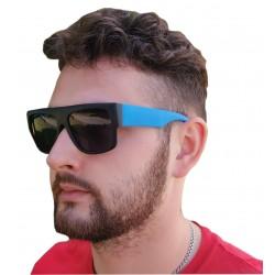 Okulary przeciwsłoneczne UV CZARNO-NIEBIESKIE