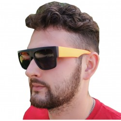 Okulary przeciwsłoneczne UV CZARNO-POMARAŃCZOWE