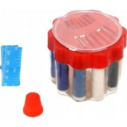 Zestaw krawiecki do szycia mini - igły - nici - centymetr
