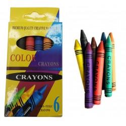 Kredki świecowe 6 kolorów zestaw