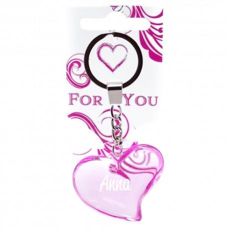 Brelok serce do kluczy breloczek ANNA