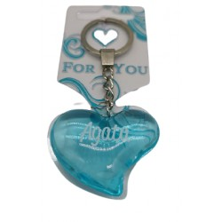 Brelok serce do kluczy breloczek PAULINA