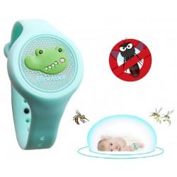 Opaska silikonowa na komary dla dzieci zegarek LED
