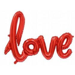 Balon foliowy LOVE czerwony WALENTYNKI ZARĘCZYNY
