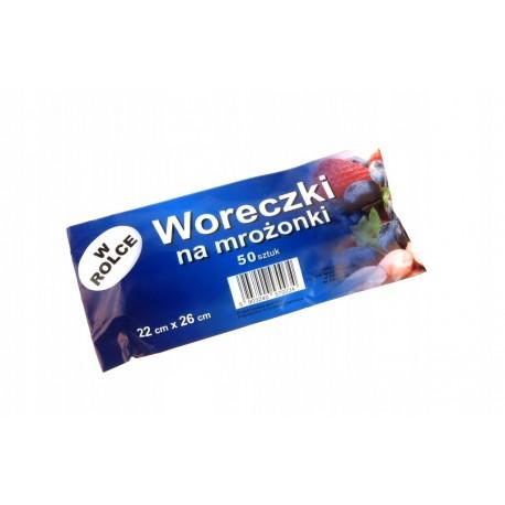 Woreczki na mrożonki 50 szt Polskie