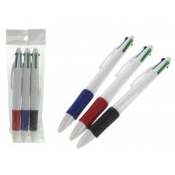 Zestaw 3 długopisów 4 kolorowych