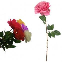 Róża sztuczna na gałązce róże kwiat 60 cm