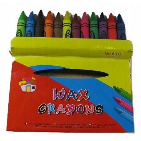 Kredki pastele 12 kolorów pastelowe