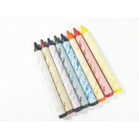 Kredki świecowe 8 kolorów tani zestaw