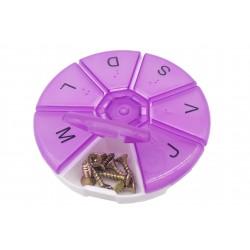 Organizer pojemnik przezroczysty pudełko na śrubki drobiazgi - 7 przegródek