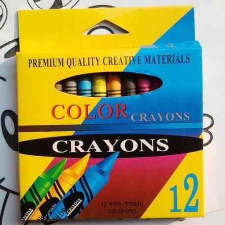 Kredki świecowe 12 kolorów non-toxic