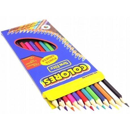 Kredki ołówkowe 12 kolorów new elite