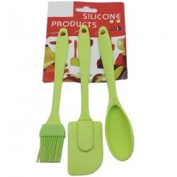 Zestaw przyborów kuchennych łyżka szpatułka pędzel silikon