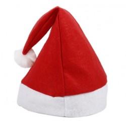 Czapka świąteczna Mikołaja czerwona filcowa eko