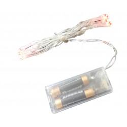 Lampki choinkowe tradycyjne RED na baterię 10LED