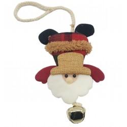 Zawieszka świąteczna maskotka z dzwoneczkiem 20 cm