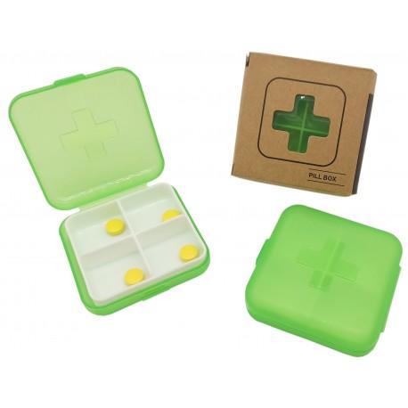 Pojemnik podróżny, kasetka, pudełko na leki, tabletki 4 przegródki