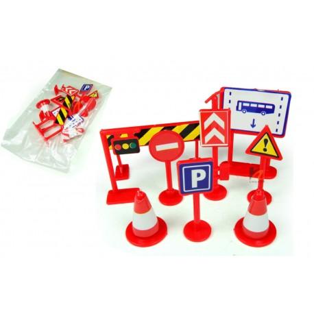 Znaki drogowe zabawka edukacyjna dla dzieci 9 elementów