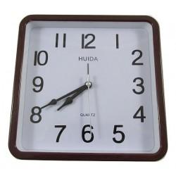 Zegar ścienny quartz z budzikiem kwadrat