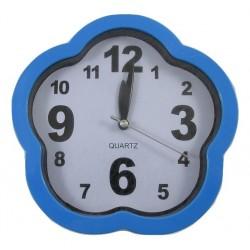 Zegar ścienny quartz z budzikiem kwiatek