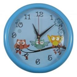 Zegar ścienny okrągły sowa