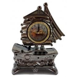 Zegar z budzikiem statek