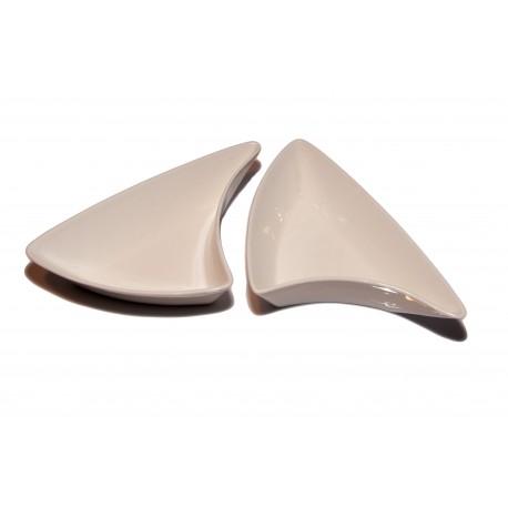 Miseczki do dipów i sosów porcelanowe, trójkątne