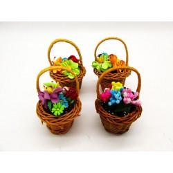 Magnes ozdobny na lodówkę koszyczek z kwiatami