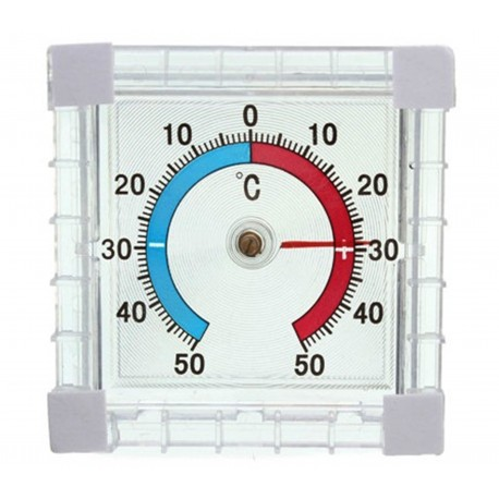 Termometr zewnętrzny zaokienny samoprzylepny kwadrat