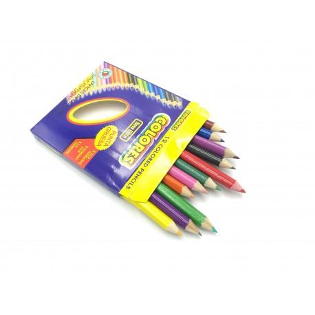 Kredki ołówkowe New Elite, 12 kolorów