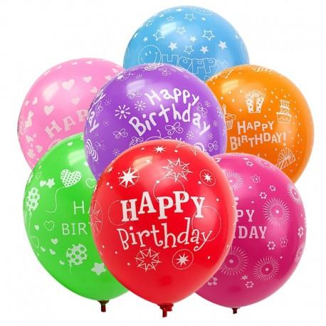 Balony lateksowe kolorowe, happy birthday, pastelowe na urodziny 100 szt.