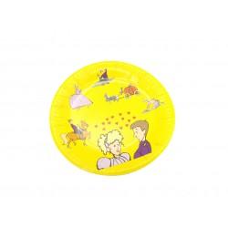 Talerzyki papierowe jednorazowe z wzorami, klaun, księżniczka 10 szt.