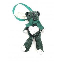 Brelok przywieszka zielony miś do torby plecaka breloczek