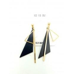 Kolczyki złote wiszące trójkąty