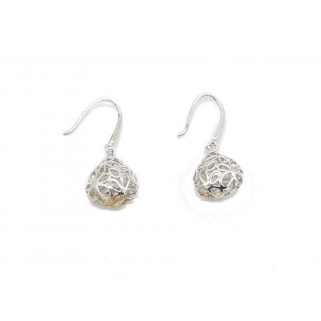 Piękne modne kolczyki srebrne ażurowe wzór koła, próba 925