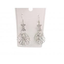 Piękne modne kolczyki srebrne ażurowe rozetki, próba 925
