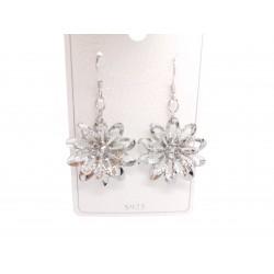 Piękne modne kolczyki srebrny kwiatek, próba 925