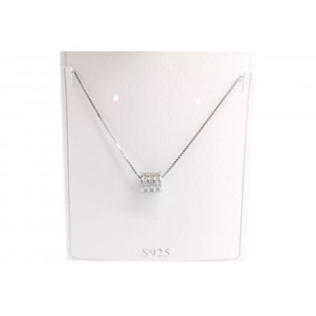 Piękny modny łańcuszek linka naszyjnik srebrny, próba 925