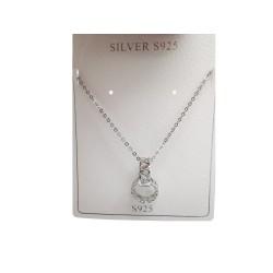 Piękny srebrny modny łańcuszek naszyjnik , próba 925
