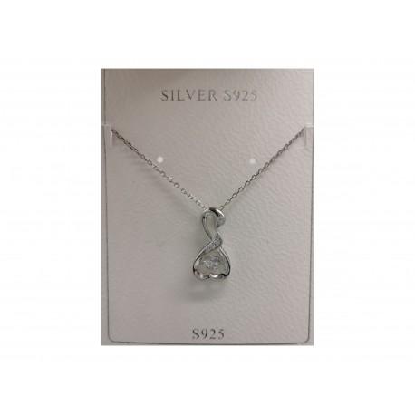 Piękny modny silver łańcuszek naszyjnik srebrny, próba 925