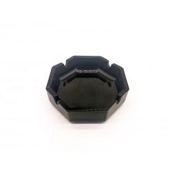 Popielniczka szklana ośmiokątna czarna