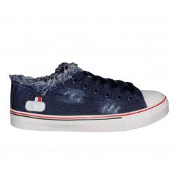 Trampki damskie jeans granatowe tenisówki buty sportowe