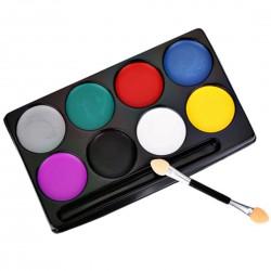 Zestaw farb do malowania twarzy, farby do ciała, 8 kolorów