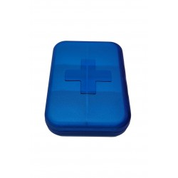 Pojemnik podróżny kasetka pudełko na leki tabletki 6 przegródek