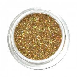 Brokat ozdobny do paznokci pyłek złoty do hybryd