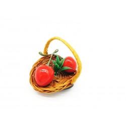 Magnes na lodówkę koszyk z owocami